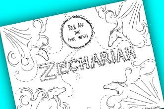 Free Printable Zechariah Coloring Page