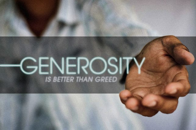 Meaning of life and generosity
