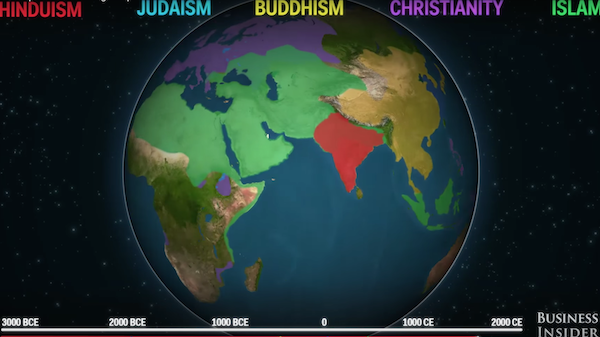 the spread of world religions The religions population of the world is only 134% hinduism spread through trade because india is a major trade center in europe it spread when items would go in and out of india people spread their beliefs with others every person.