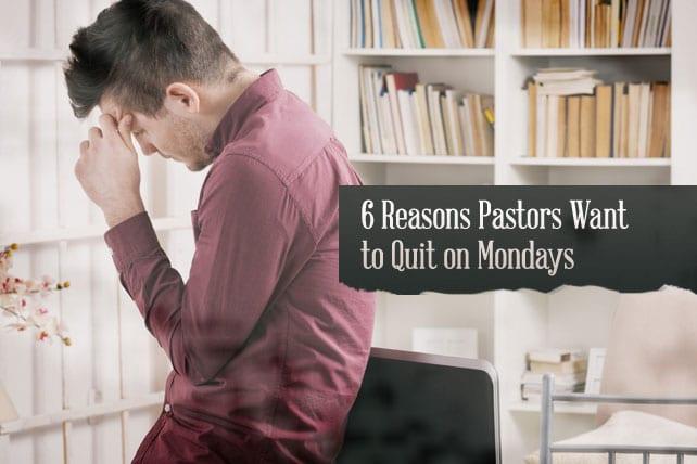 pastor quit monday