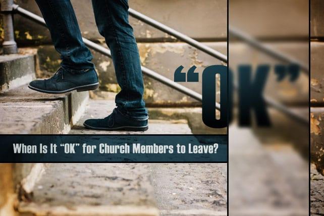 Church Members leaving