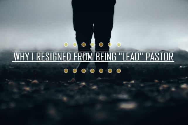 Shawn Lovejoy Why I Resigned From Being