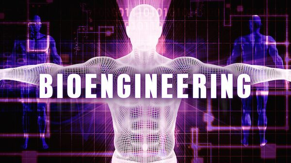 Bioengineering as a Digital Technology Medical Concept Art