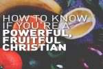 How to Know if You're a Powerful, Fruitful Christian
