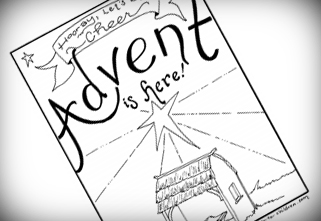 advent coloring pages joy - photo#27